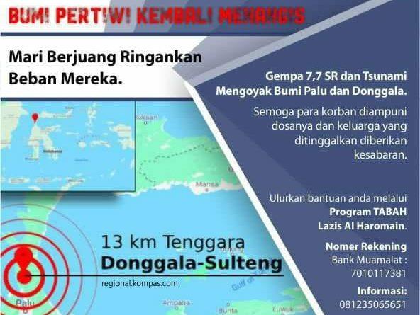 Pesyadha Al Haromain - Gempa Palu Donggala