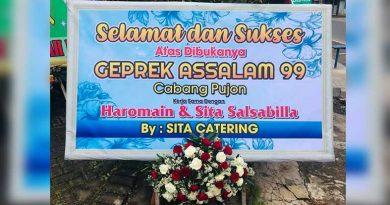 Pembukaan Geprek AsSalam 99 Cabang Pujon